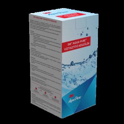 3M™ Aqua-Pure™ Víztisztító készülék 1 mikron ezüstözött aktívszén-blokk szűrővel és polifoszfát vízkőgátló adalékanyaggal, csap nélkül